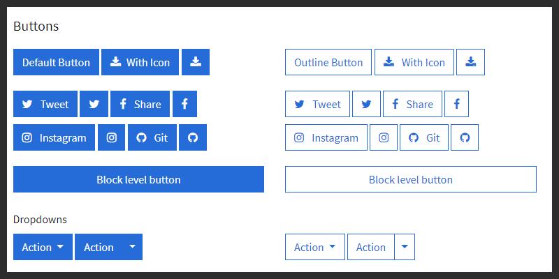 bootstrap 4 website ui