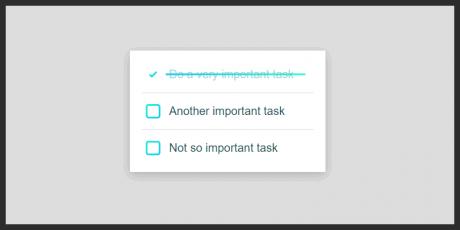 css task checklist