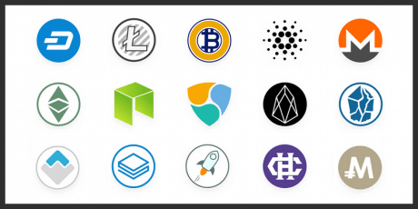 cyptocurrency vector icons free