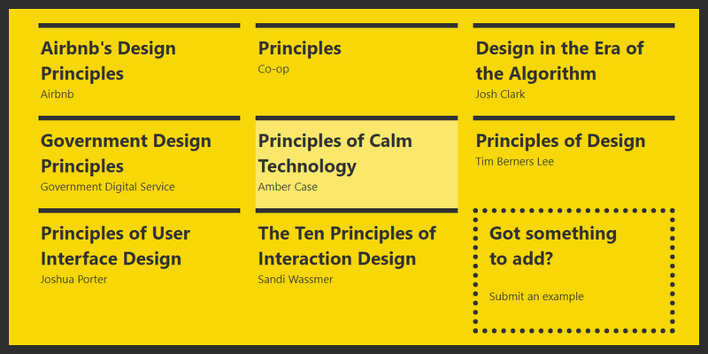 design guidelines principles resource