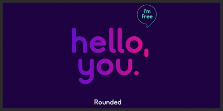 free rounded logo typeface