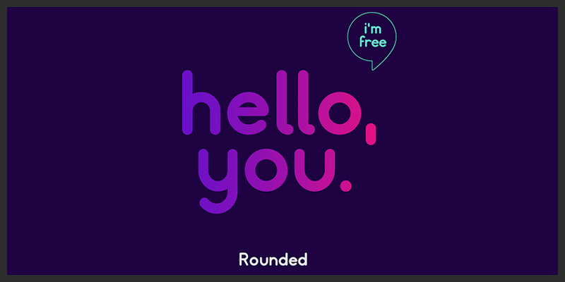 Free Rounded Logo Typeface - ByPeople