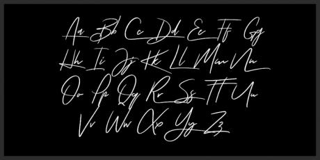 free unique signature style font