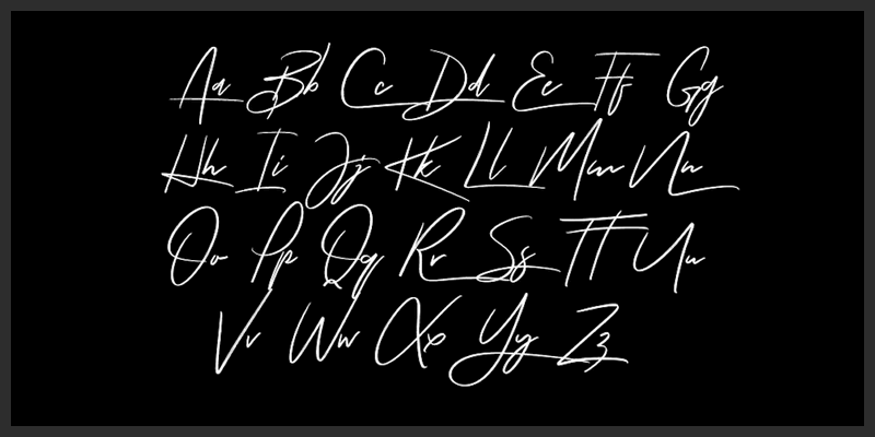 Handwriting Fonts on Alphabet Letters Different Styles Of Writing