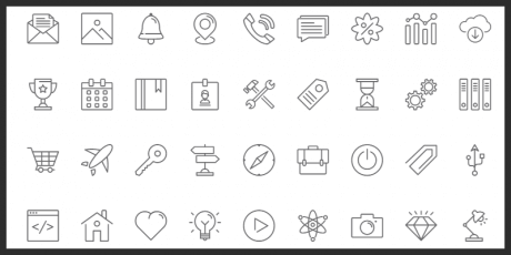 free vector line icons pack