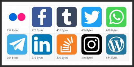 lightweight social icons
