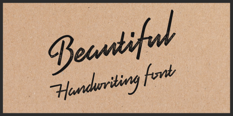 marker handwriting script font