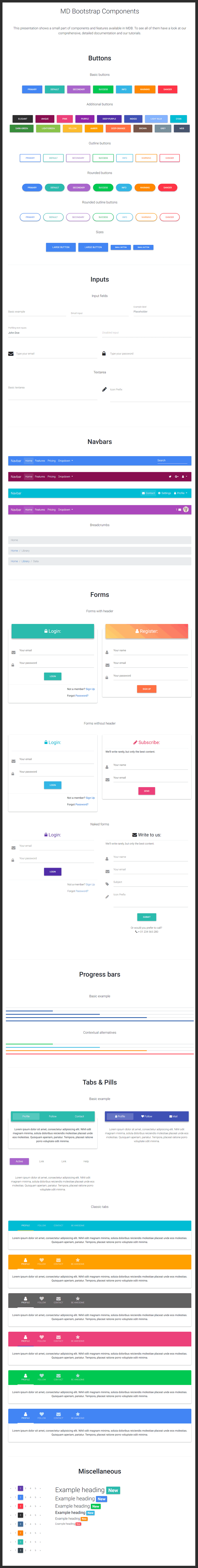Material Design For Bootstrap Ui React Bypeople