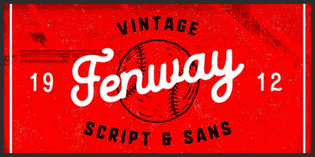 sports vintage script typeface