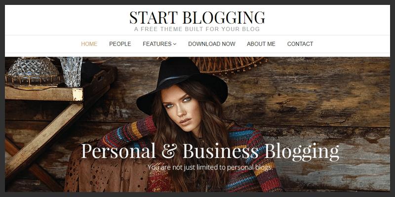 theme wordpress blog business personal