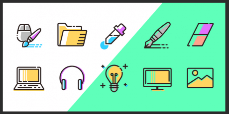 vector line icons design agencies