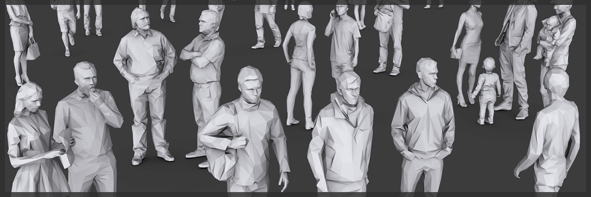 3d models lowpoly people 1