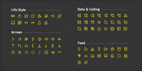 450 free line icons