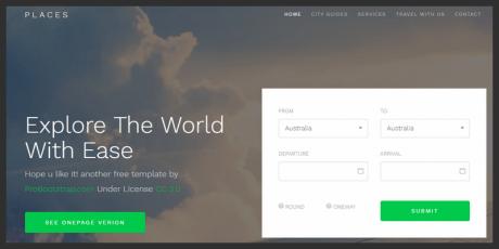 bootstrap 4 website template business