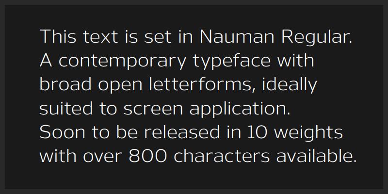 broad open letterform screen font