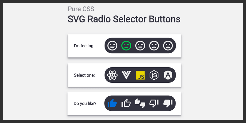 Pure CSS SVG Radio Buttons | Bypeople