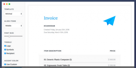 free desktop invoicing application