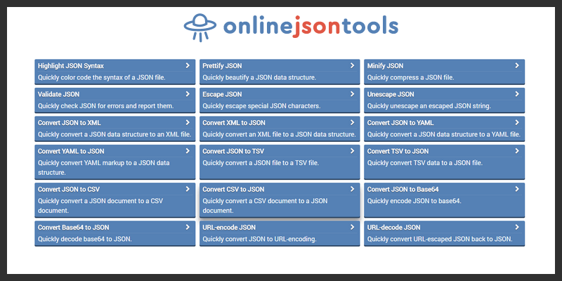 free easy json tools