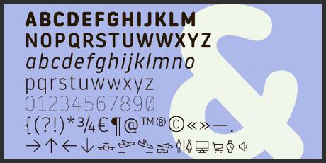 free round typeface