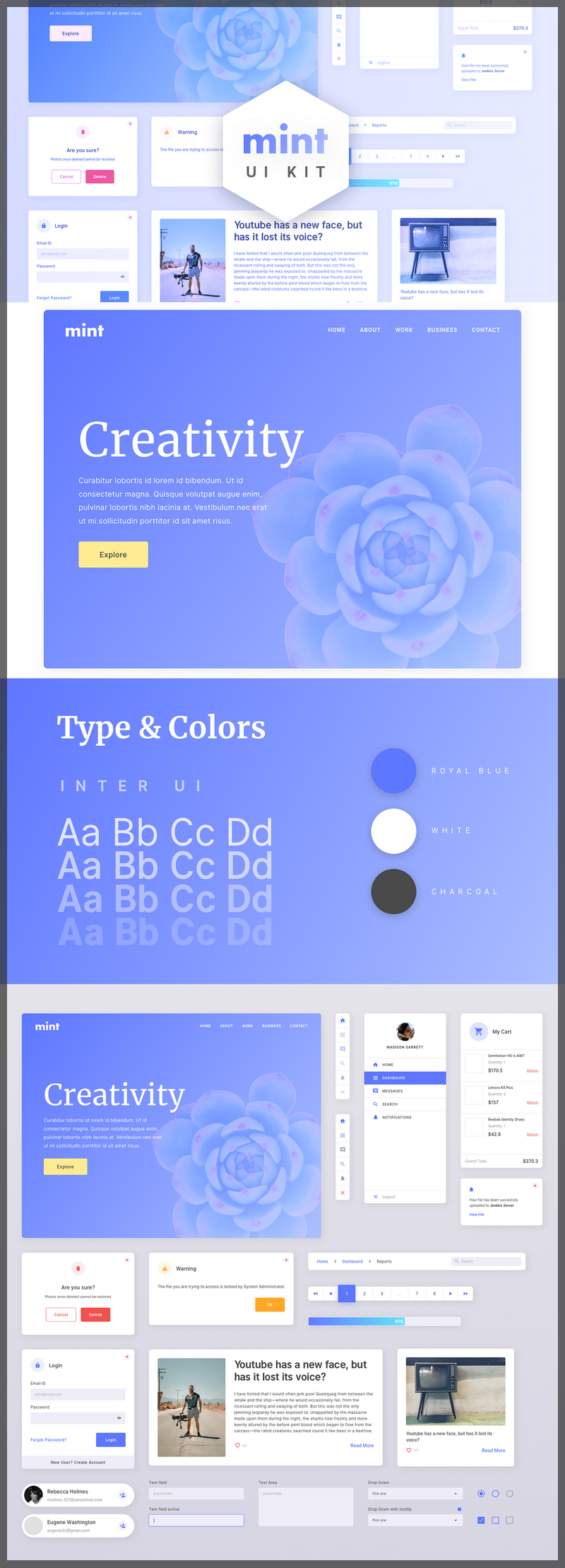 Free Web UI Kit (Sketch) - ByPeople