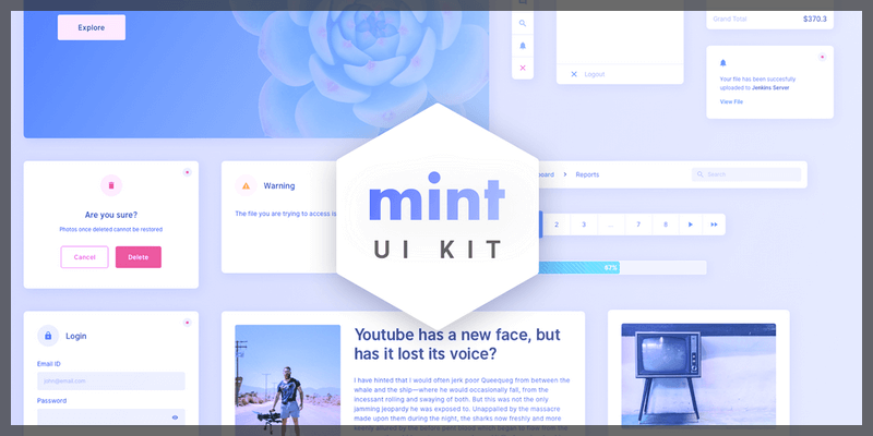 free web ui kit sketch bypeople