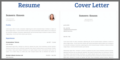 free word resume template cover letter