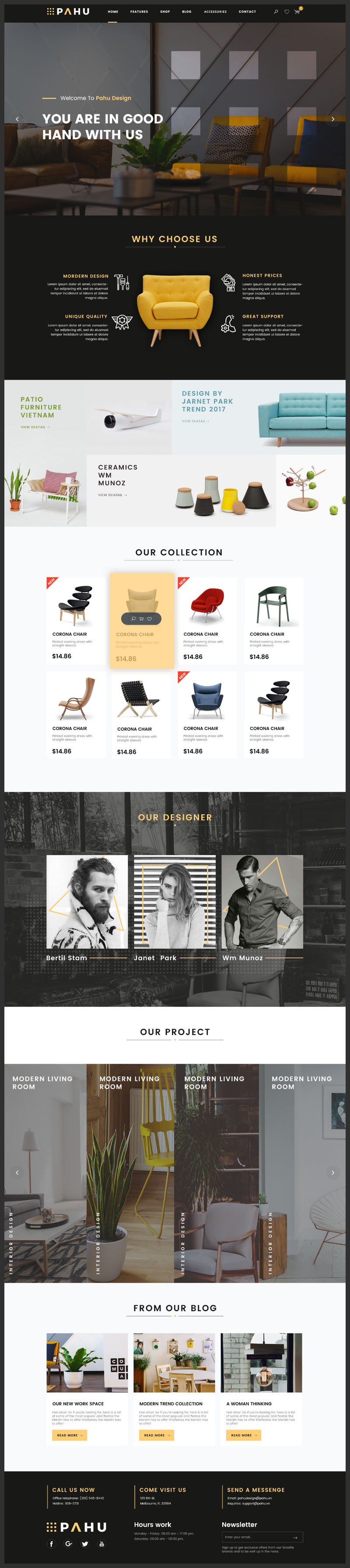 Interior design website template psd for Interior design sites