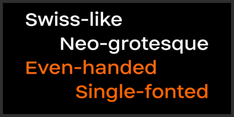 neo grotesque display font