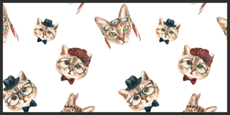 watercolor cat patterns