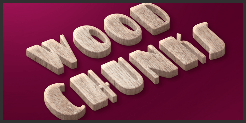 wooden text style photoshop