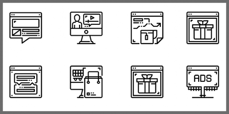business marketing ecommerce icons pack