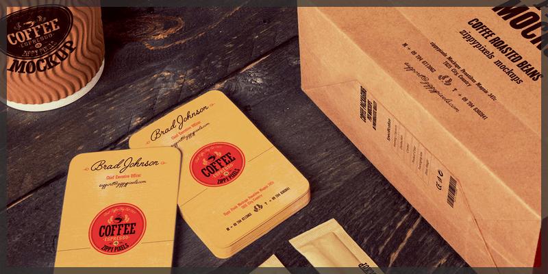 coffee branding mockups free