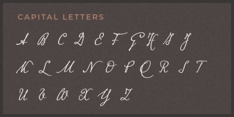 elegant handwriting script font