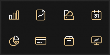 finance icons svg eps