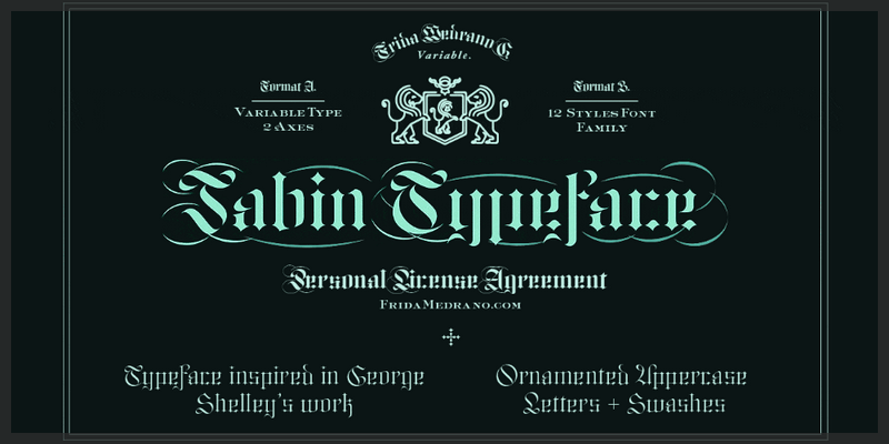 Free gothic typeface variable font swashes 12 weights for Template gothic font free