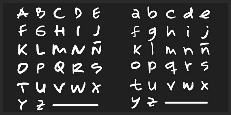 free marker hand drawn font