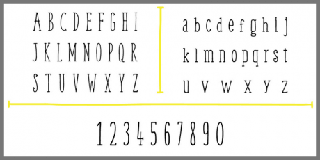 handwritting serif font