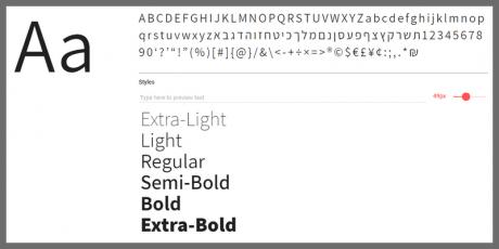 hebrew latin sans serif font
