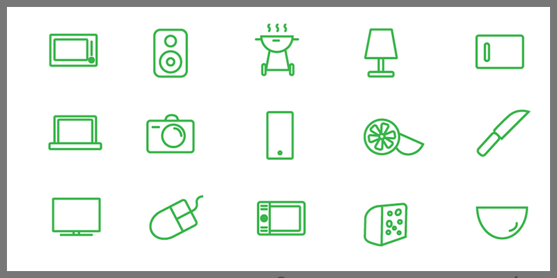 leisure icons pack vector ai