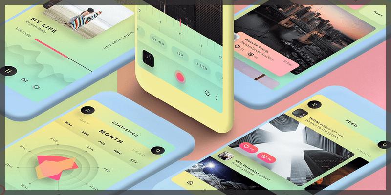 mobile app ui kit sketch photoshop