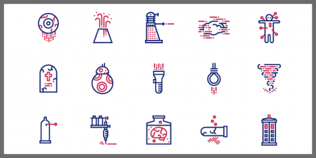 science fiction icons pack