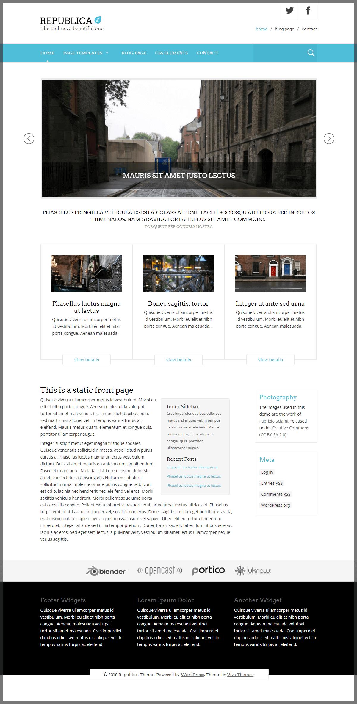 Vivathemes wordpress collection 29 premium themes future releases republica back to top maxwellsz