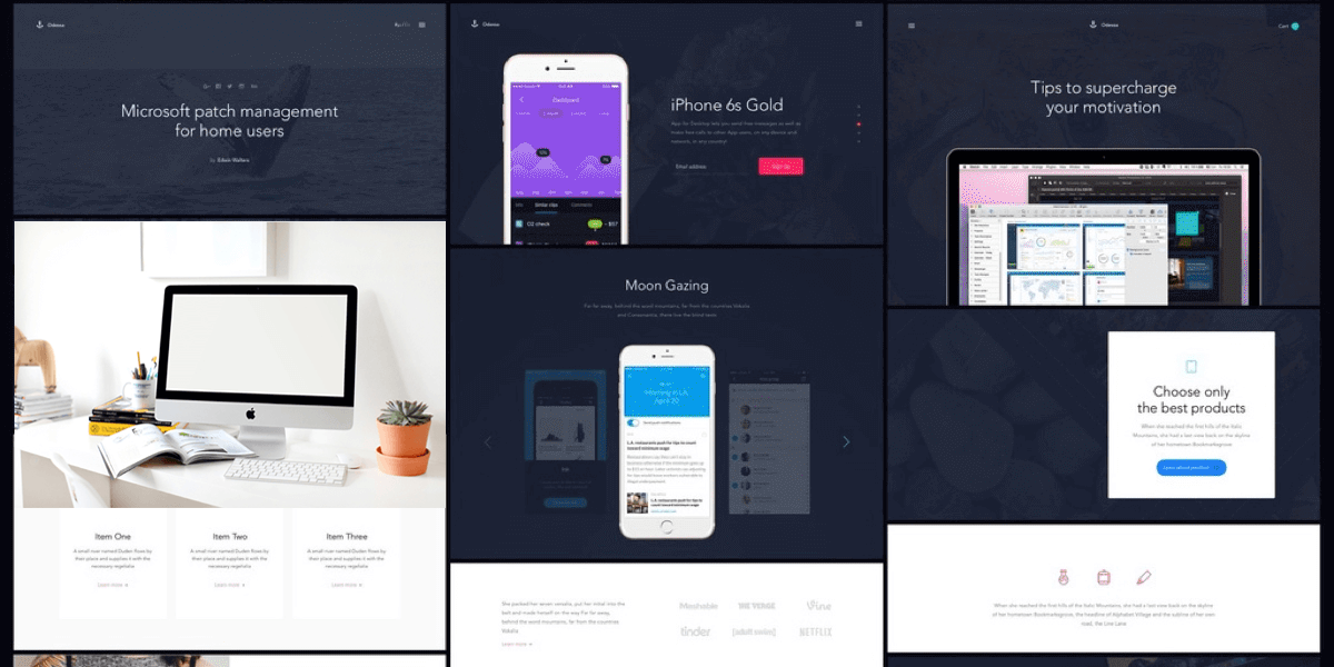 Big UI Design Bundle For Web & Mobile: UI Kits, Wireframes