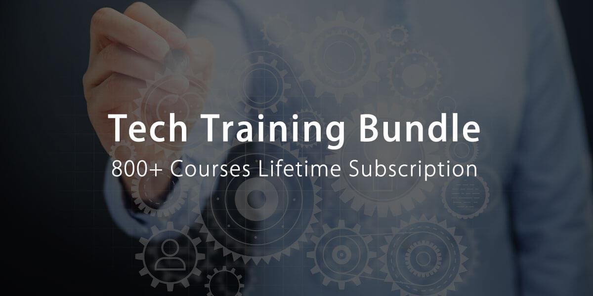 800+ Tech Training Courses Bundle – Lifetime Subscription