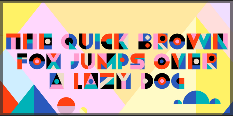 abstract font svg opentype