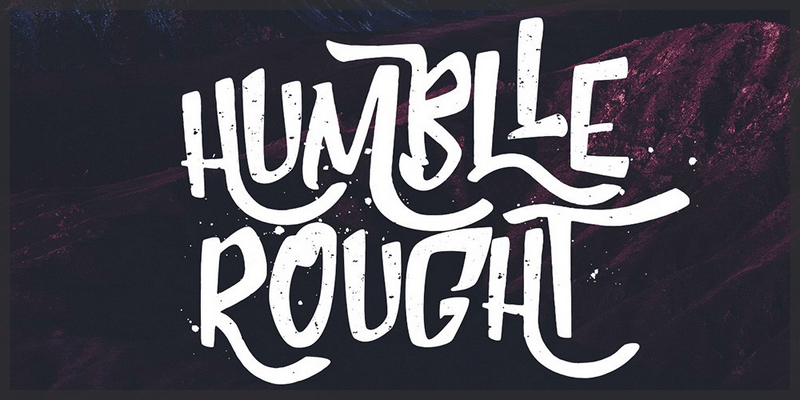 brush font grunge uppercase