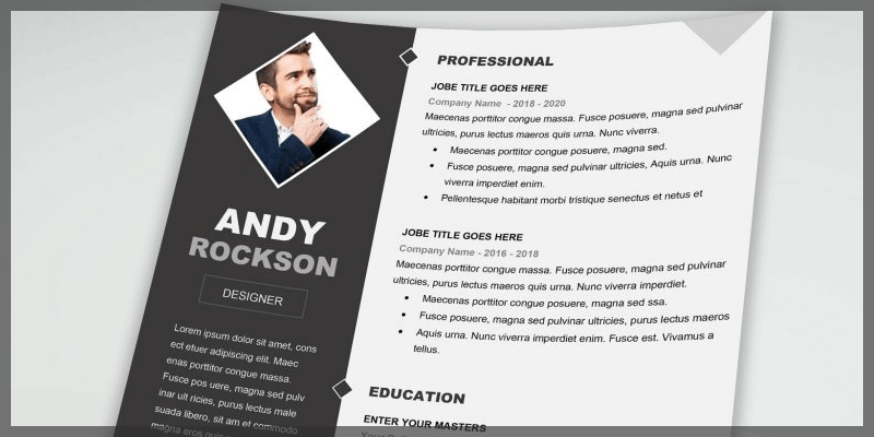clean and creative resume template docx bypeople