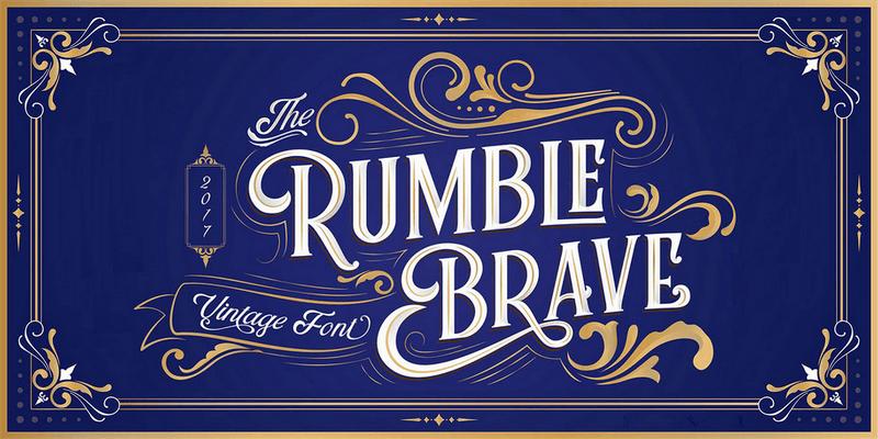 display font vintage elegant