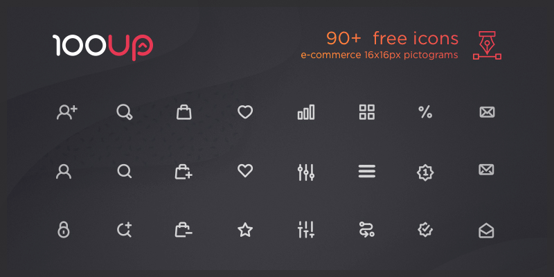 ecommerce icons pack 90 free