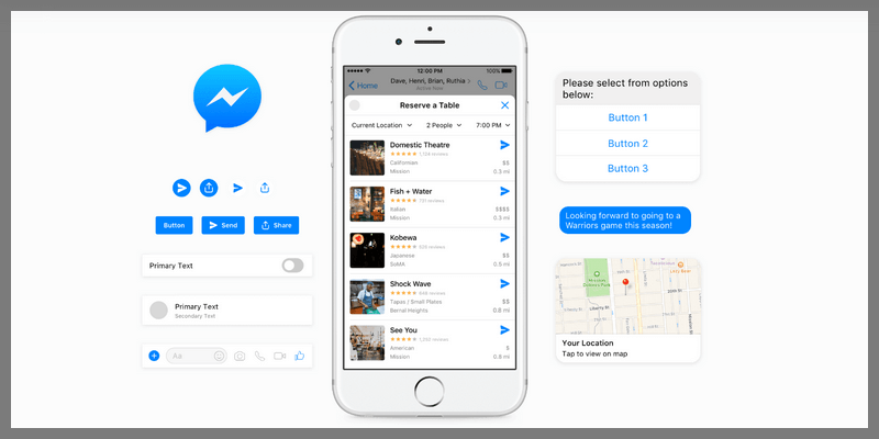 facebook messenger design kit
